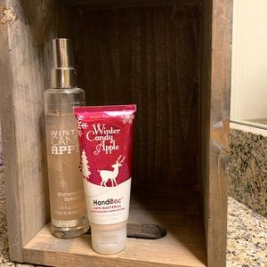 Winter Candy Apple Shimmer Spray and Lotion